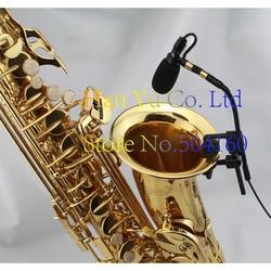 Darmowa wysyłka Pro saksofon występ na scenie Instrument klip kondensator zestaw słuchawkowy z mikrofonem dla AKG XLR 3 Pins TA3F