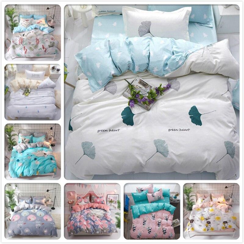 Consice Soft Cotton Bedding Set 3pcs 4pcs Kids Bed Linen 150x200 180x220 200x230 220x240 Duvet Cover Single Twin Queen King Size