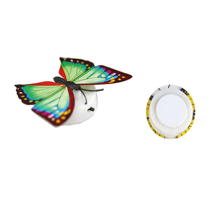 1PC Wall Stickers Colorful Changing Butterfly LED Night Light Lamp Home Room Decor Party Desk Wall Decoration Droship 23 Apr 20