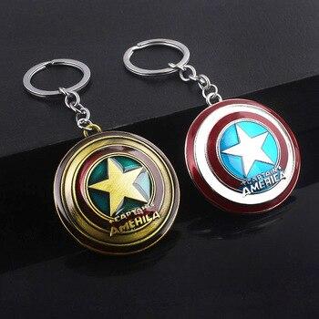 The Avengers 4 Endgame Captain America Star Shield Keychain