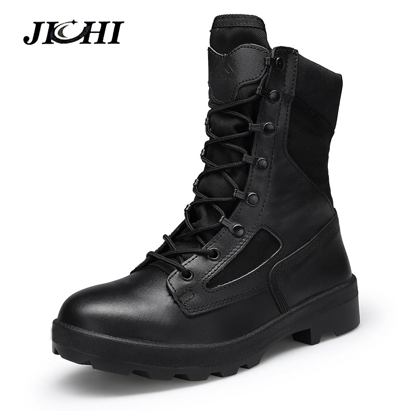 Hiver Militaire Bottes Hommes Botas Militares de Qualité Hommes Tactique militaire Bottes de Combat de L'armée Travail Chaussures En Cuir Askeri Bot Hommes de