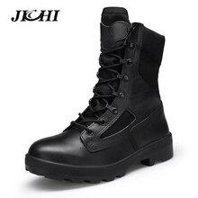Winter Military Boots Men Botas Militares Quality Men's Tactical military Combat Boots Army Work Shoes Leather Askeri Bot Men's