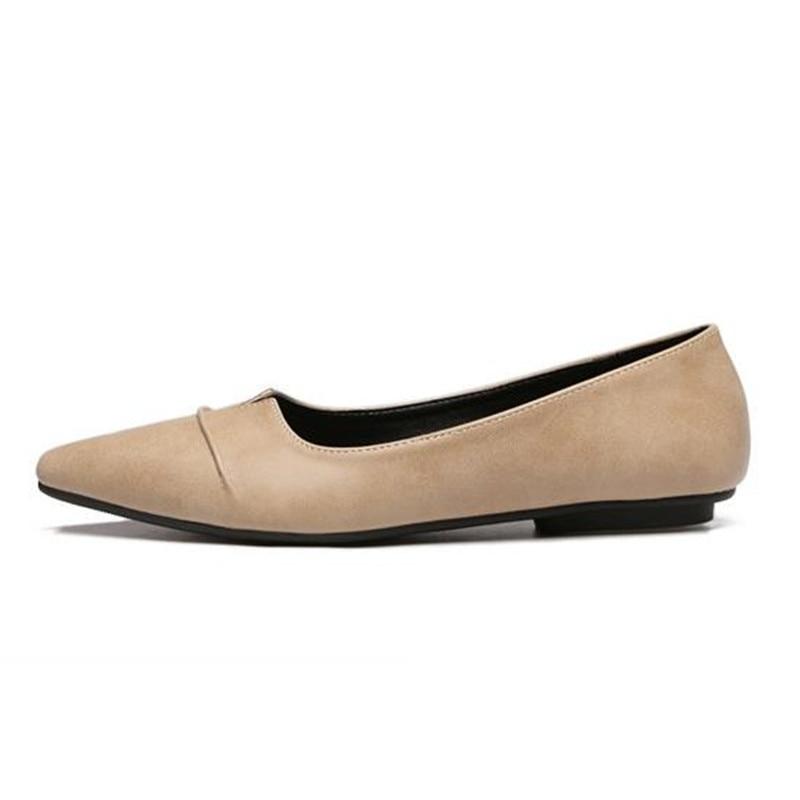 Flats2018 Loaferse849 Femmes Noir Solide Couleur Sur Ol Robe gris Printemps Slip Pointu De Ceyaneaonew kaki Bateau Marche Casual Conduite marron Ballet Bout Chaussures 5qx0HtwKU