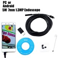 5M Android/PC 7mm 1.3MP Endoscope Waterproof Borescope Micro USB Camera Inspection Tube Pipe Snake Video Camera