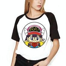 Для женщин футболка Arale Dragon Ball Симпатичные Детские раздавить вычурные печатных Бейсбол девушки футболка