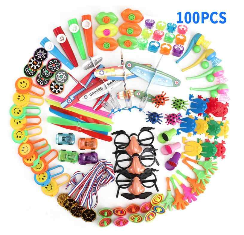 Birthday Pinata Fillers Party Supplies Giveaways Prizes Assorted Small Toys Set Classroom Treasure Box Party Gift Favors 100Pcs