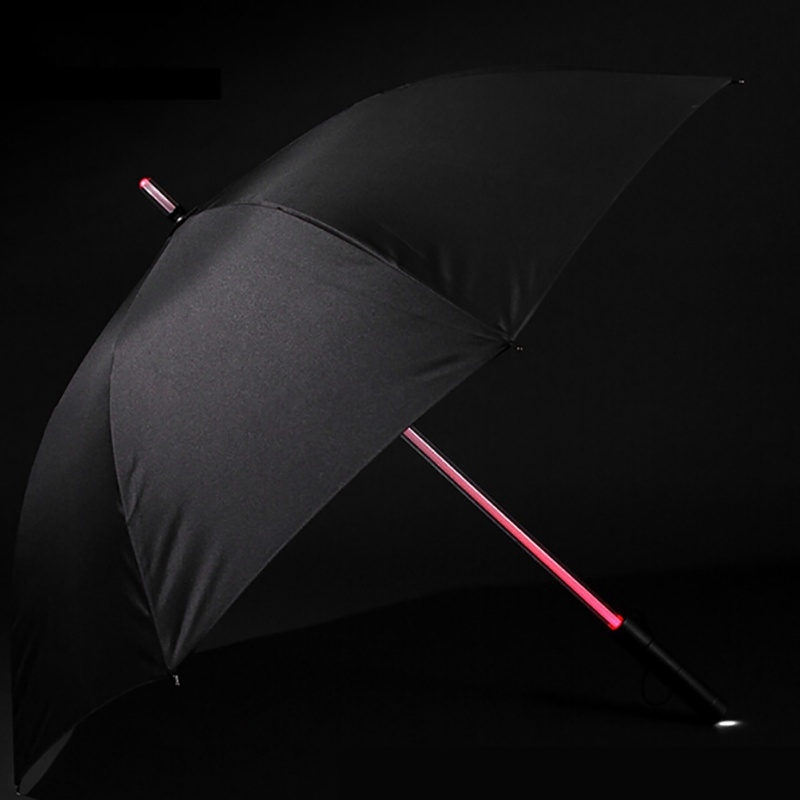 Fashion Creative 7 Colors LED Umbrella Rain Car Gift Men Women Golf Umbrella Night Protection Flash Light