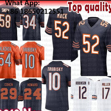 196462301ae58 52 Khalil Mack 10 Mitchell Trubisky Chicago Jersey 58 Roquan Smith Anthony  Miller Cohen 34 Payton