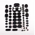 1 Pack=60 pcs Black energy  basalt stone SPA massage for relax health body chakra reiking healing stone health tool