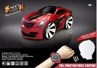 Electric Car Toys Red Blue Intelligent voice control car 2.4G 6ch voice control racing car vehicle with watch remote vs 2107048
