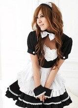 Ensen classic maid cosplay de mucama mujeres novetly dress blanco y negro bowknot princess dress juegos de rol traje de carnaval disfraces