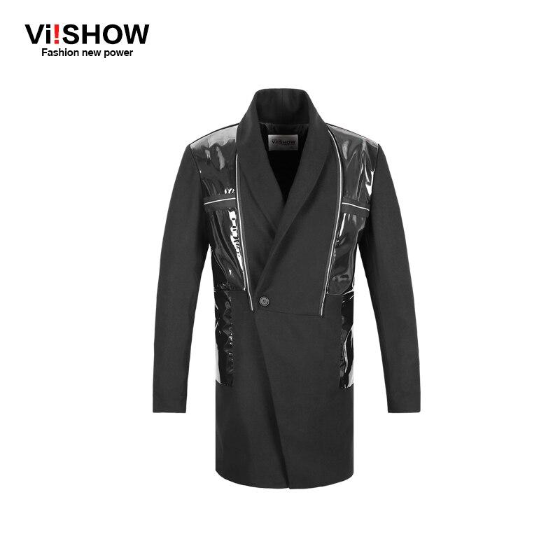 Viishow Brand Mid-Long Trench Coat Men Casual Single Breasted Windbreaker Outwear Male Europe Design Jackets Pea Coat