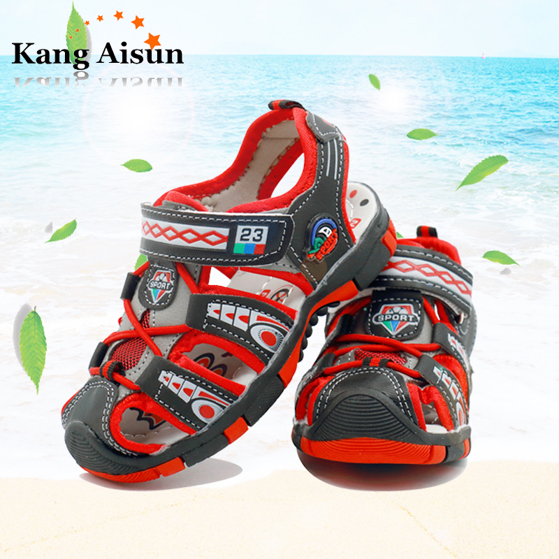 KANGAISUN 2018 nieuwe kinderen zomer strand sandalen antislip mode - Kinderschoenen - Foto 2