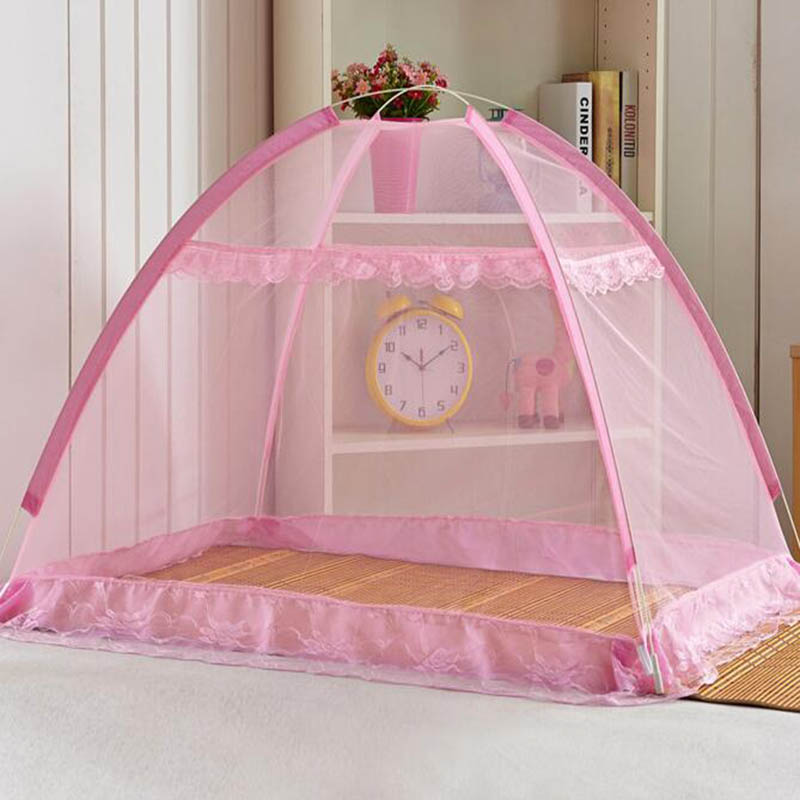 Portable Mosquito Net For Baby Bed Canopy Cribs Cover klamboe Tent Floded Free installation Insect net Mosquiteros para cama-in Mosquito Net from Home ... & Portable Mosquito Net For Baby Bed Canopy Cribs Cover klamboe Tent ...