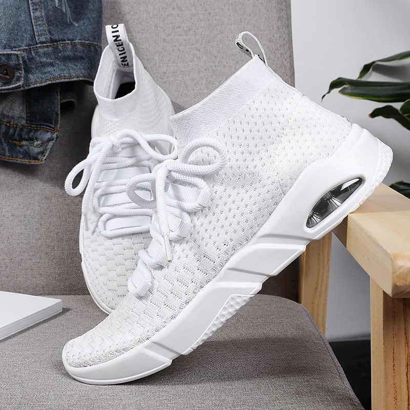 Спортивная обувь для мужчин, носки, кроссовки, спортивная обувь, мужская спортивная обувь с высоким берцем, Chaussure, спортивная обувь для бега