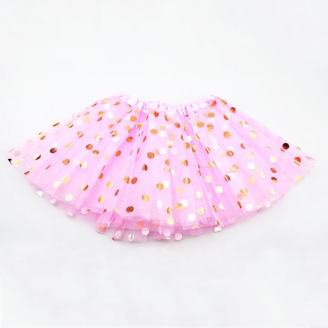 Elegant Polka Dot Polyester Skirt for Baby Girls 1