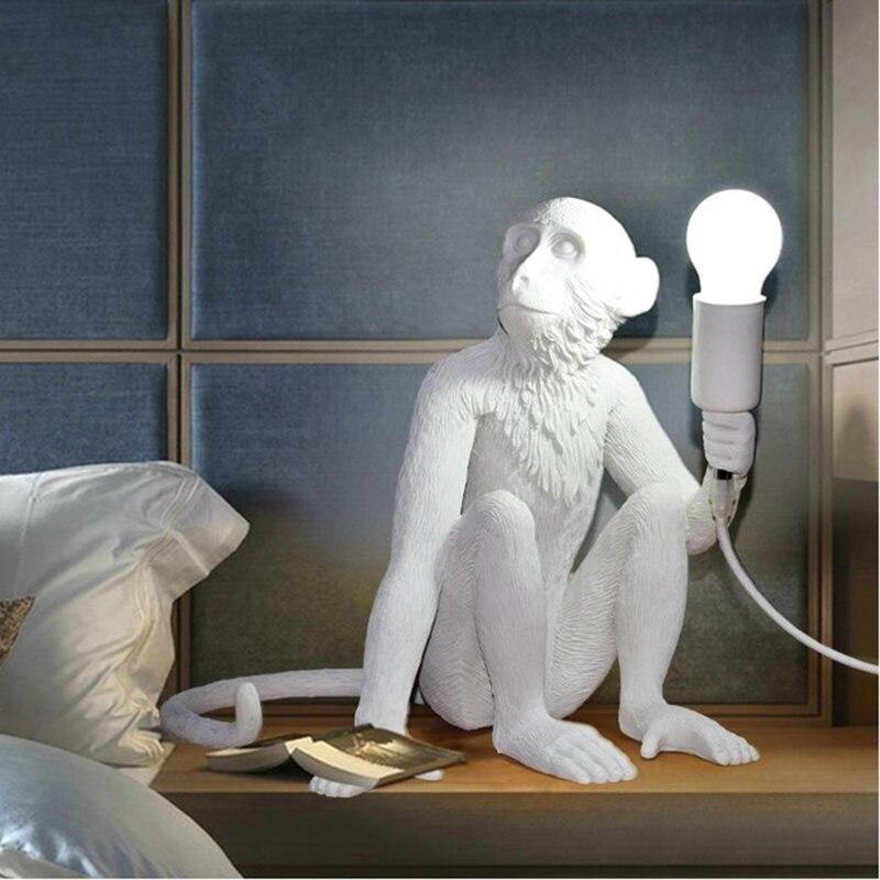 Wongshi Moderne Mooie Aap Henneptouw Plafondlamp Voor Kinderen Thuis Bar Cafe Decoratie Met E27 LED Lamp Voor Gratis - 4