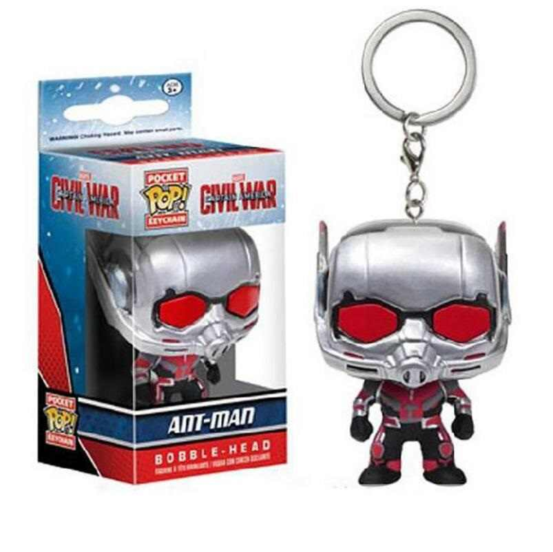 Pop Bolso Bolso Mini Chaveiro Marvel homem-Formiga Antman Vinyl Action Figure Toy Collectible Presentes Quentes