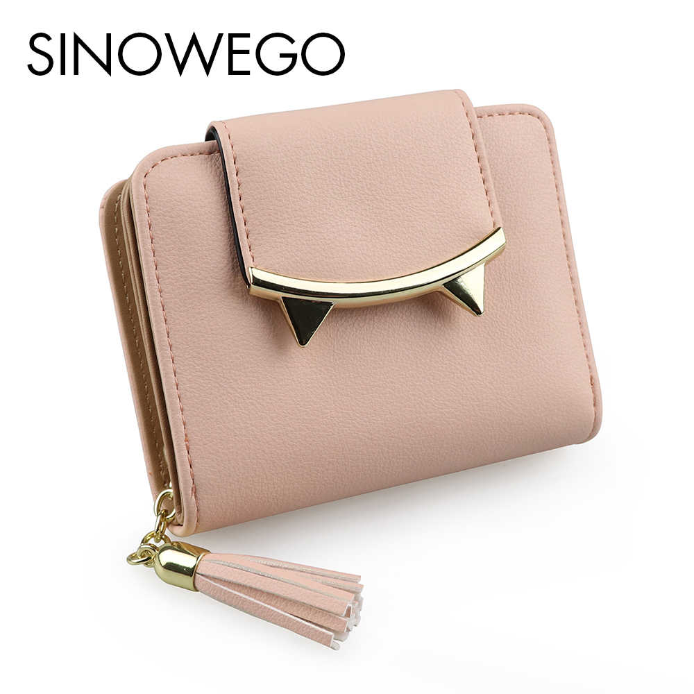 945170195b6a 2018 New Fashion Elegant Small Wallet Female Luxury Brand Famous Designer  Women Wallets Concise Cute Card