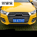 ABS plating auto front grille trim strips car styling exterior accessories decorative highlight bar 3D sticker for Audi 2016 Q3