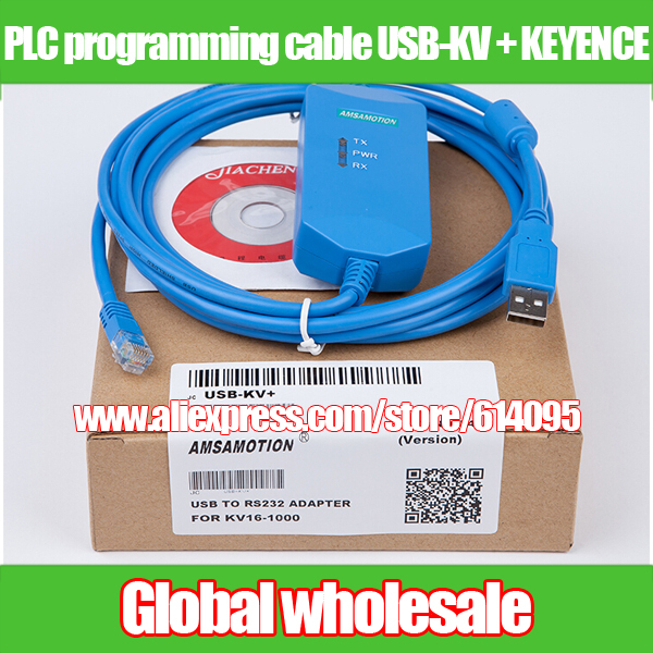 US $28 5 |1pcs PLC programming cable USB KV + KEYENCE / KV series PLC  compatible download cable data lines to support WIN7-in Electronic Data  Systems