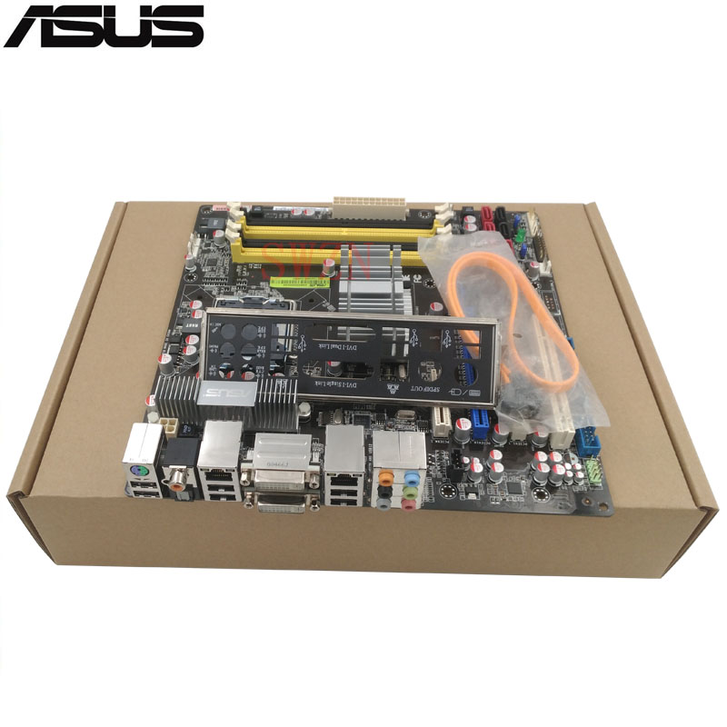 original Used Server motherboard For Asus P5N-VM WS Socket 775 Maximum 4*DDR2 32GB 6xSATAII ATX