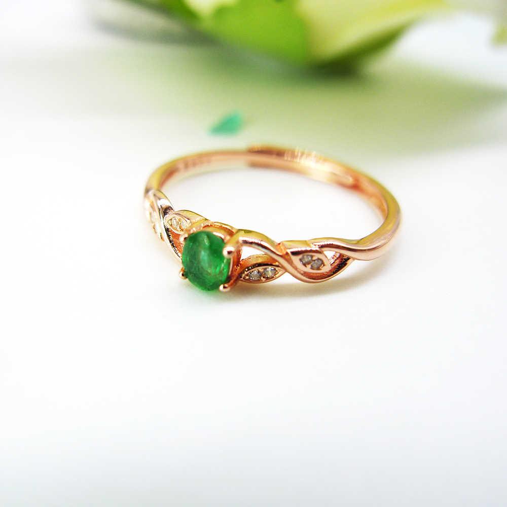 Natürliche Smaragd Ring Sterling Silber 925 Schmuck Edelstein Schmuck Frauen Edlen Schmuck Zweig Design Ring Frauen