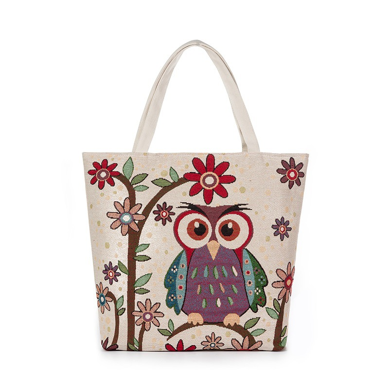 3 piece  pack Owl handbag embroidery canvas material large spot welcome  purchase support drop shipping fff1e0d7eaa6d