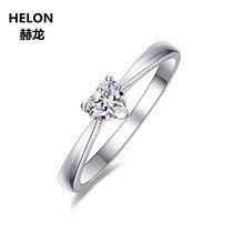 9b9252171823 Sólido 14 K oro blanco céltico anillo de 5x5mm corazón corte VVS F-G  laboratorio crecido
