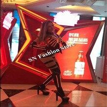 MD2 LED костюмы бальных танцев клуб певица сексуальные платья женщин робот бар костюмы этап подиуме DJ бюстгальтер партия Показать носит одежду