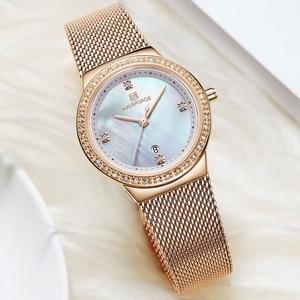 Image 3 - Nova naviforce mulheres marca de luxo relógio simples quartzo senhora relógio de pulso à prova dfemale água moda feminina relógios casuais reloj mujer