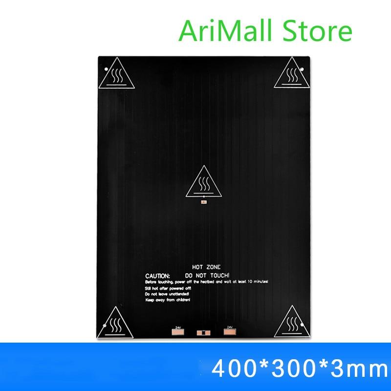 3D imprimante accessoires MK3 aluminium substrat lit chauffant 400*300*3mm chauffage lit chaud