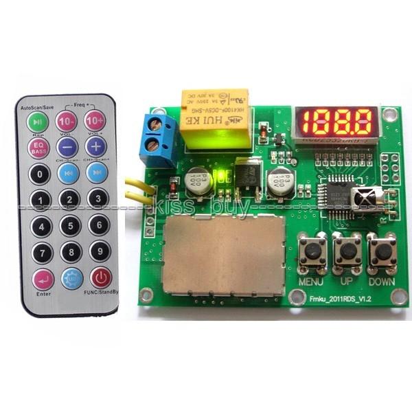 Digital de Codificación RDS FM Radio Módulo Receptor Remoto RSS DC9-12V RDS Control de 76-108 Mhz