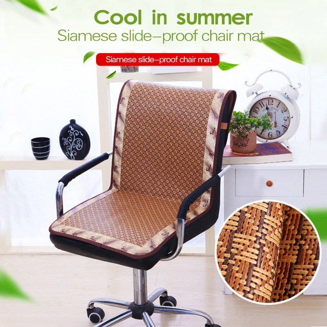 summer high chair cover space fishing tackle rattan slide proof cushion cooling for office plaid dustproof mats quality 1pc