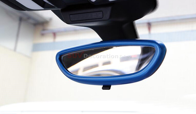 New! NEW!! For Porsche Cayenne 2011 - 2016 Chrome ABS Inner Rearview Mirror Lid Trim low-equipped 1pcs new