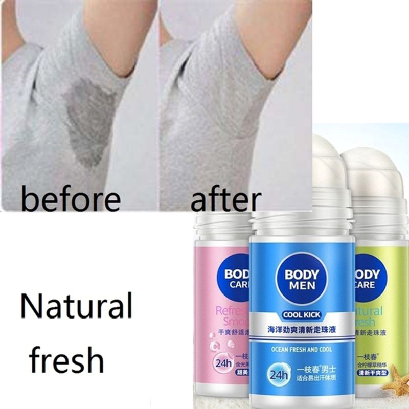 50ml Odor Remover Rolling Bead Armpit Underarm Smell Removal Refresh Body Deodorant Liquid Water Summer Sweat Women Men Supplies image