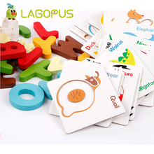 ABC Puzzle Wooden Toys Baby Early Education Letter Card Animal Puzzle Children Education Puzzle Card Alphabet Puzzle Toys все цены