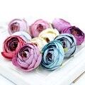 10 pcs 3 cm seda artificial tea rose bud cabeça flores para decoração de casamento diy coroa de flores caixa de presente scrapbooking artesanato flores falsificadas