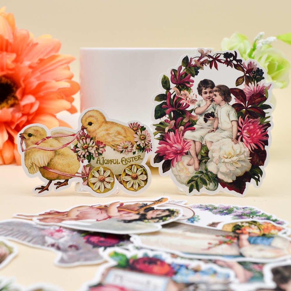 25pcs Hand Drawing Angel Flower Girl Fairy Sticker Scrapbooking Decorative Handbook Planner DIY Stationery Aesthetic Stickers