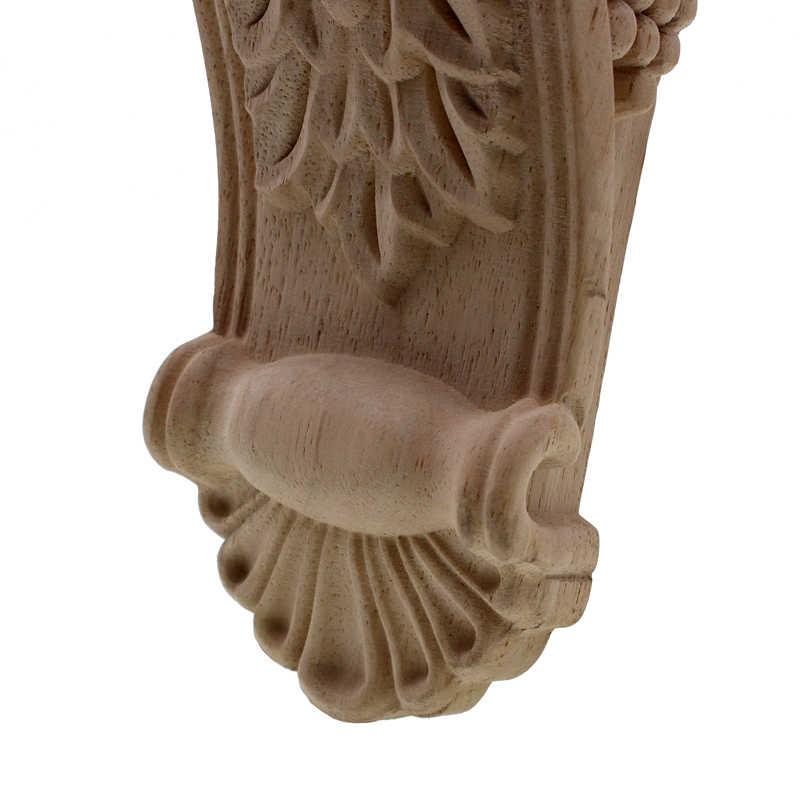 Rose Ukiran Kayu Kabinet Pintu Hati Bunga Bordiran Aksesoris Perabot Relief Solid Elliptical Figurine