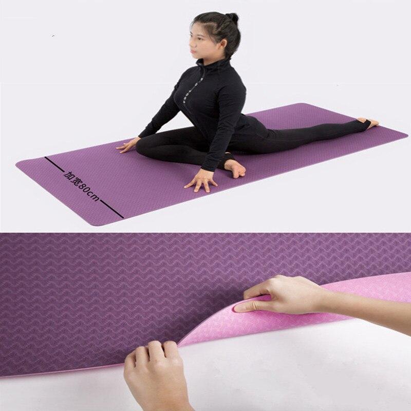 183 * 80 * 0.6CM Non Slip TPE Fitness Mat Yoga Exercise