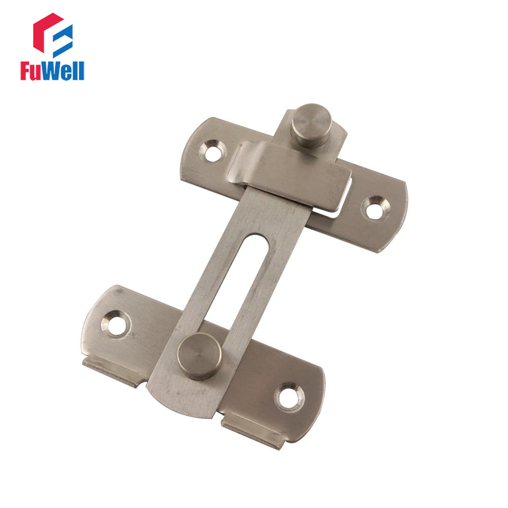 2pcs stainless steel door latch 100mm length 2mm thickness for 1 2 lock the door