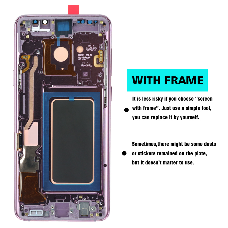 ORIGINAL AMOLED Replacement for SAMSUNG Galaxy S9 S9+LCD Touch Screen Digitizer with Frame G960 G965 display