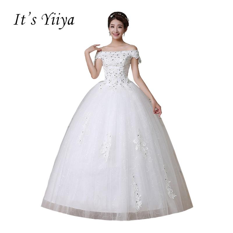 Free shipping Vestidos De Novia Real Photo Tulle Sequins Boat Neck Wedding  Dresses Frocks Princess Cheap 50f6351694b6