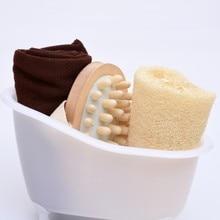 Hot Popular 4 Items/set Hot Sale Small Pet Bathtub +Bath luffah+Towel+Wood Body Massage bathroom accessories bath set S30D5