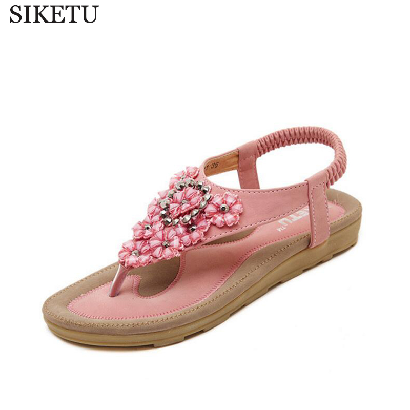 2017 Summer Style flowers rhinestones Women Sandals Open toe Wedge Slides shoes woman Sandals Platform Flip flops Shoes s180 цены онлайн