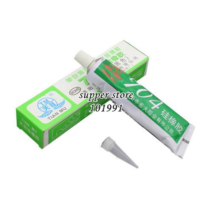 5pcs/lot 704 fixed high temperature resistant silicone rubber insulated sealing glue 704 waterproof silicone thermal conductive