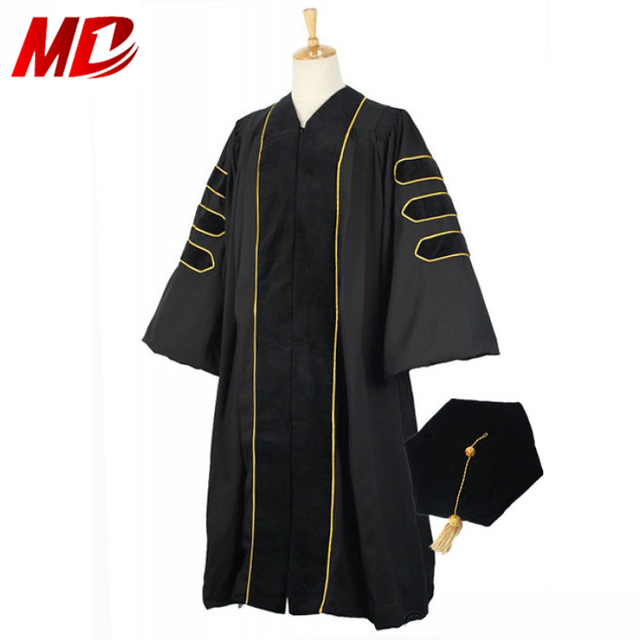 Graduationmall Deluxe Doctor/Phd Graduation Gown Tam Package PHD ...