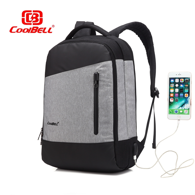 Cool Bell Waterproof 15.6 inch Men Women Backpack Waterproof Business Backpack Bag for Laptop Computer External USB Charge