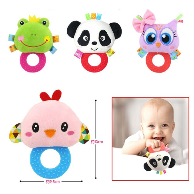 Baby Kids Plush Animal Rattle Toys Educational Musical Soft Baby Teether Bed Stoller Hanging Musical Raccoon Toys Baby Toy Gift 5